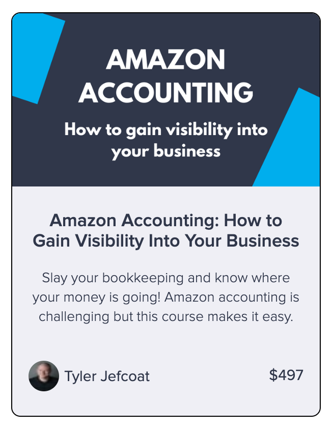 amazon accounting DIY course from Seller Accountant