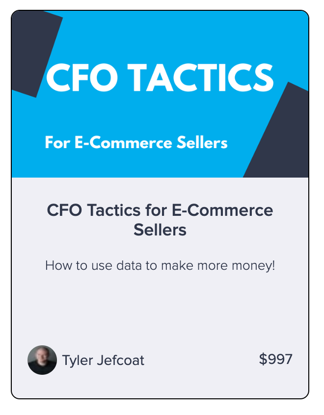 CFO Tactics DIY course from Seller Accountant