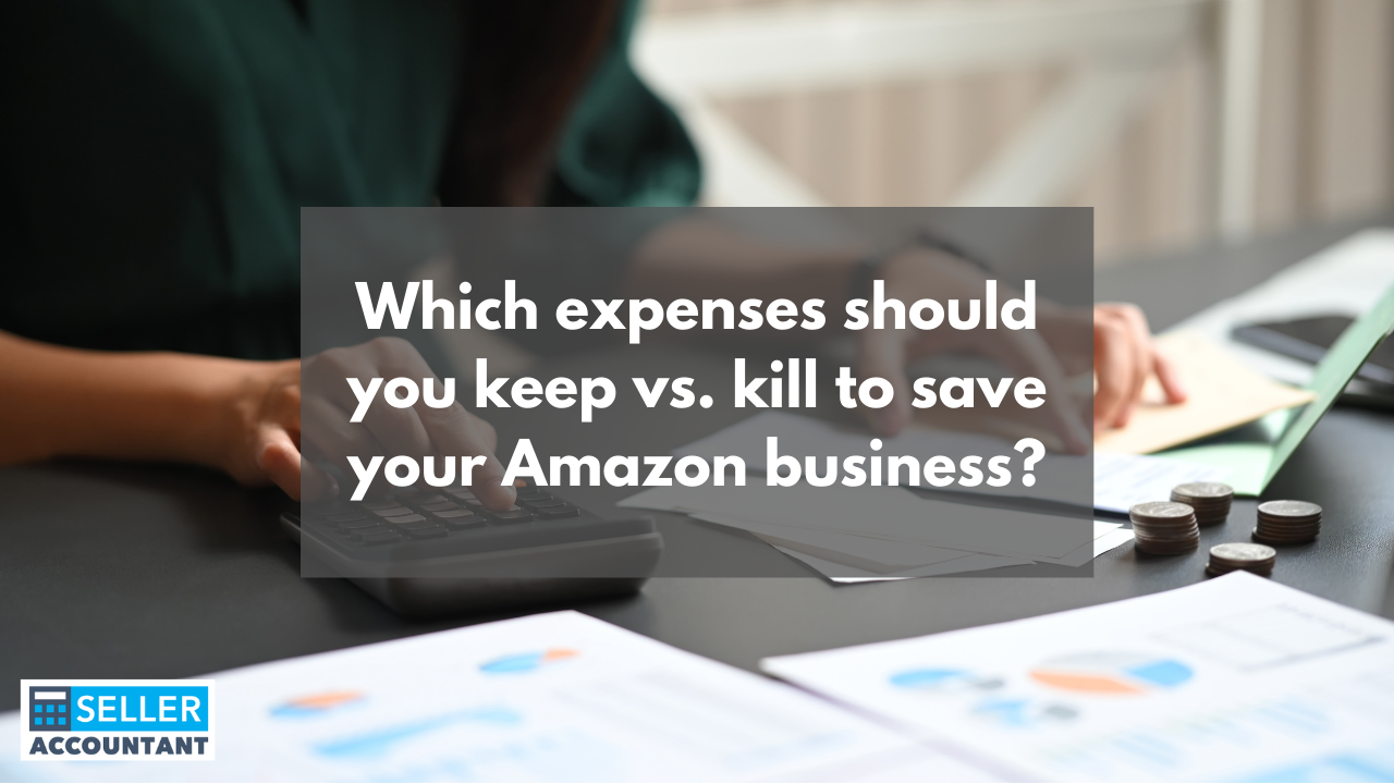 Which expenses should you keep vs. kill to save your Amazon business?